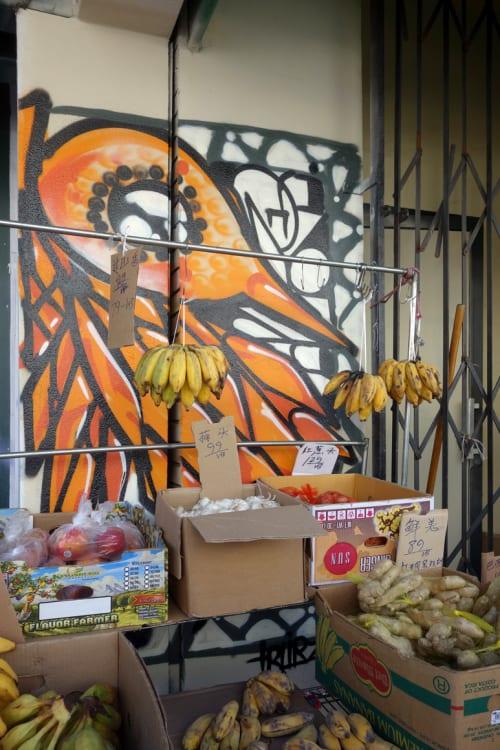 Street Murals by Ivan Hernandez (Trubz) seen at Webster Street, Oakland - Feeling the Tropics