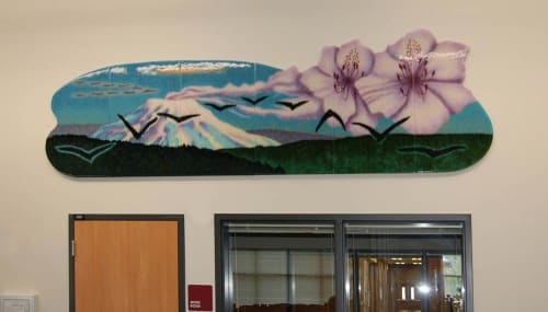 Art & Wall Decor by Michael Dupille seen at Daybreak Primary School, Battle Ground - Boomerangs