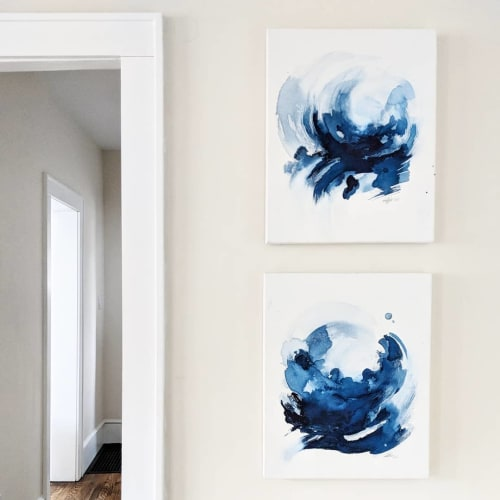 Paintings by EH Sherman seen at Private Residence, Ann Arbor - King's Tide 1 & 2