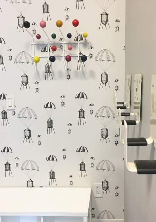 Wallpaper by Me and General Design at The Melar, New York - Chutes & Towers