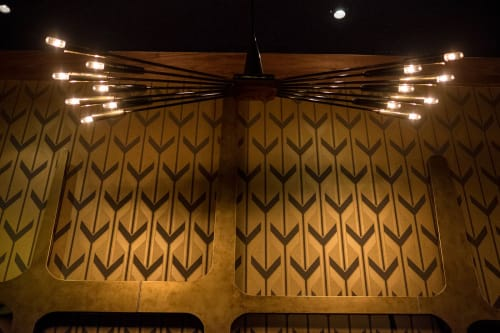 Chandeliers by Moda Lighting Inc. seen at Now Boarding, West Hollywood - Chandeliers