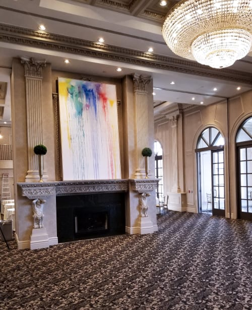 Paintings by Peter Triantos seen at Chateau Le Jardin Event Venue, Vaughan - Splash of Colour #28