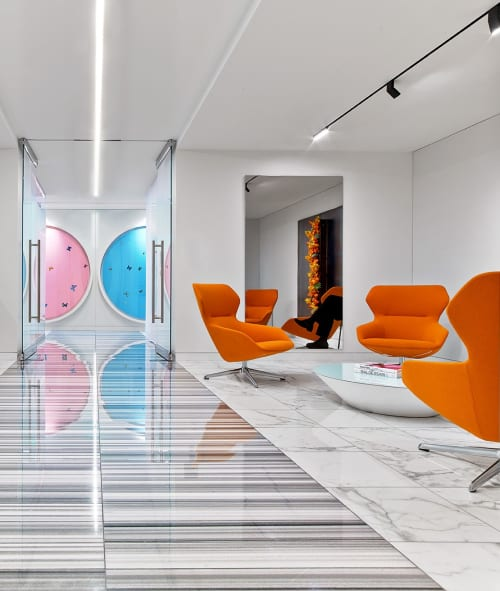 Chairs by Jehs + Laub seen at Pritzker Group L.A., Los Angeles - Ginkgo Lounge