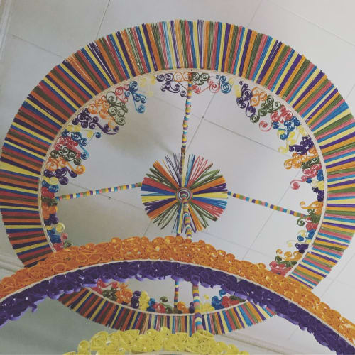 Macrame Wall Hanging by Griffin Carrick Design seen at Kids In Sync, Chicago - Quilled Mobile