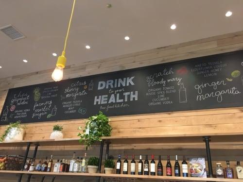 Art & Wall Decor by lauren   letra design studio seen at True Food Kitchen, Chicago - Chalkboard Lettering Art