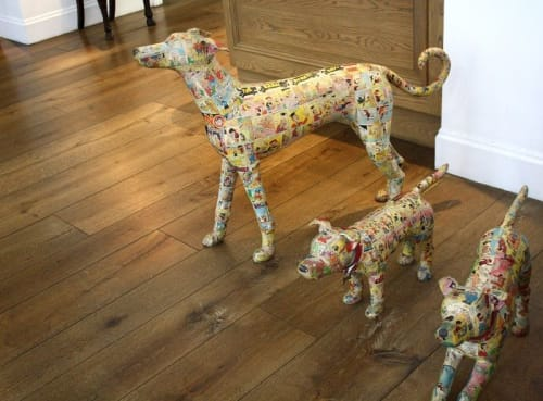 Sculptures by Justine Smith seen at Crosby Street Hotel, New York - Beano Dogs
