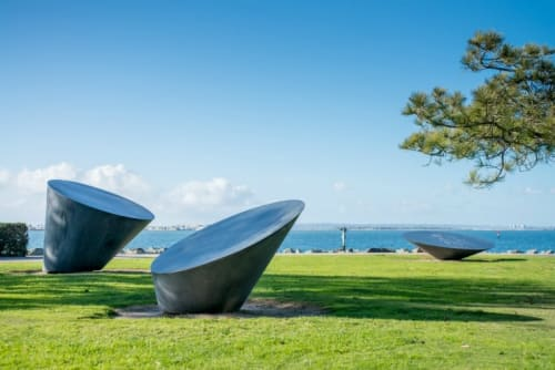 Public Sculptures by Kenneth Capps seen at Bayside Park, Chula Vista - Konoids Sculpture