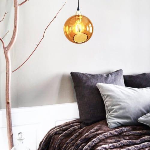 Pendants by Marie Burgos Design at Private Residence, New York - Ballroom Amber Pendant