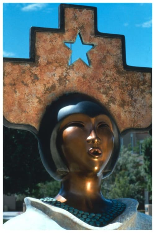 Public Sculptures by Estella Loretto seen at New Mexico State Capitol, Santa Fe - Earth Mother