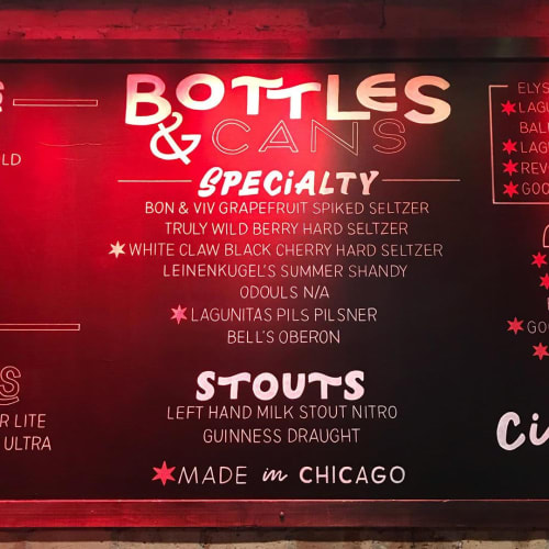 Art & Wall Decor by lauren | letra design studio seen at Howl at the Moon Chicago, Chicago - Chalkboard Art