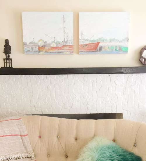 Paintings by Anne-Louise Ewen seen at Private Residence, Los Angeles - Fishing Boat