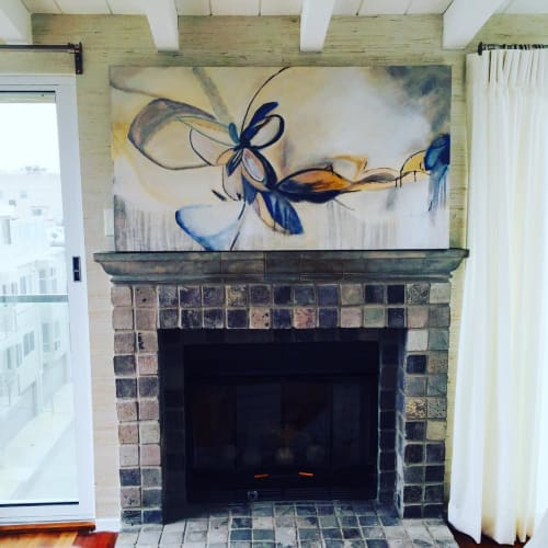 Paintings by Rhea Ashcraft Art seen at Private Residence, Los Angeles - Abstract Art