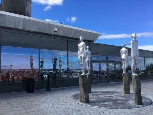 Sculptures by Steinunn Thorarinsdottir seen at Keflavik International Airport - Directions