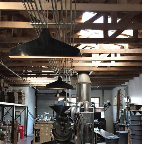 Pendants by Seth Quest at Four Barrel Coffee, San Francisco - Flat Light Pendant