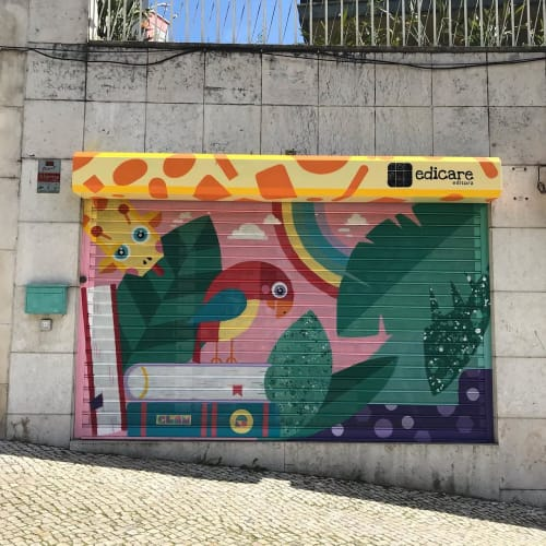 Murals by Catarina Glam seen at Edi-Care - Editora, Lda, Lisboa - Mural