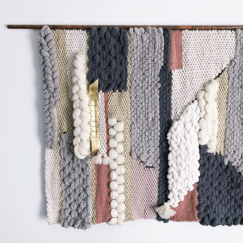 Macrame Wall Hanging by Erin Barrett  (Sunwoven) at Private Residence, Los Angeles, CA, Los Angeles - Woven Wall Hanging