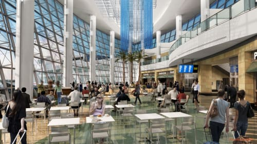 San Diego International Airport, Public Service Centers, Interior Design