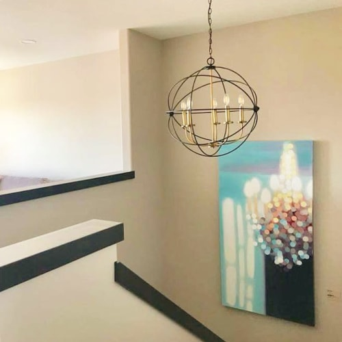 Paintings by Rachelle Kearns seen at Private Residence, Regina - Light