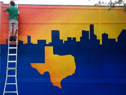Murals by Artist Couple seen at South Austin Christian Church, Austin - Mural