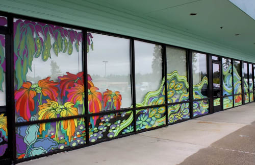 Murals by Elizabeth Gahan seen at Kent Public Health Center, Kent - Dreamscape
