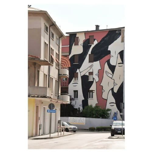 """Murals by Alina Vergnano seen at Private Residence, Pordenone - """"Whispers"""""""