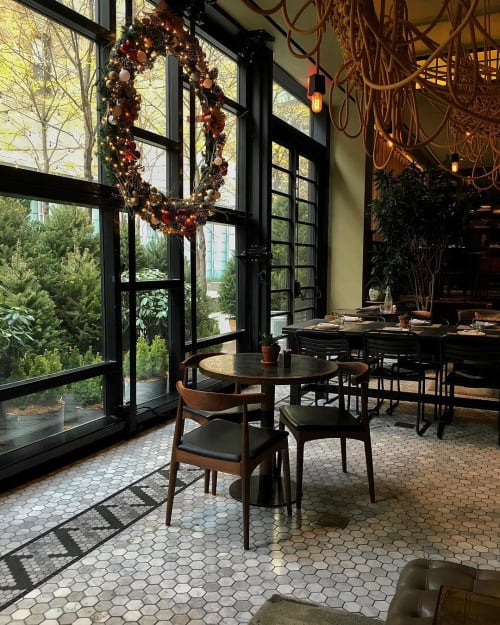 Tiles by CRÈME Design seen at The Vine, New York - Hex Tile Floor