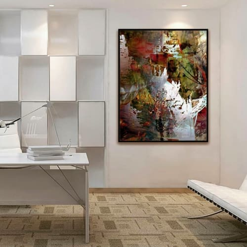 Paintings by Puguess Design seen at Private Residence, Montreal - The Marvelous Kingdom of No Pace