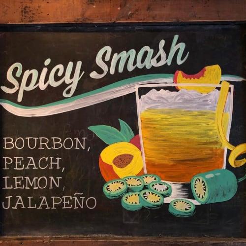Signage by Megan Webber Jordan seen at Sons of Essex, New York - Chalkboards
