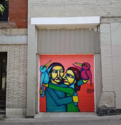 Street Murals by Felix Labrona seen at Duluth, Montreal - Duluth Mural