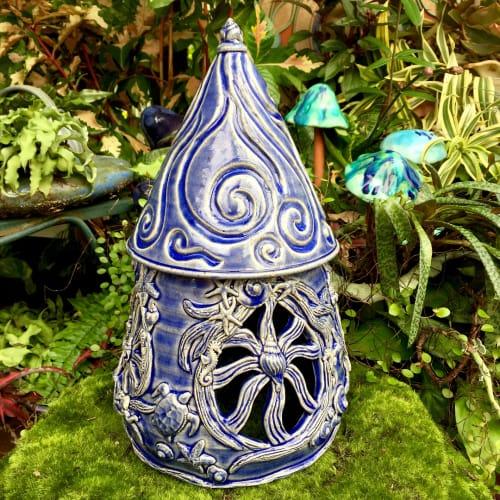 Vases & Vessels by Queen Bee Pottery seen at Queen Bee Pottery Studio, Coconut Creek - Ocean Fairies and Mermaids