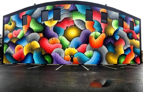 Street Murals by Ricky Watts at 600 1st Ave N Saint Petersburg, FL, Saint Petersburg - Eye of the Storm