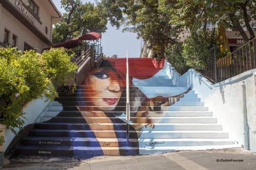 Street Murals by Zag Priv seen at Kadıköy - Gülriz Sururi