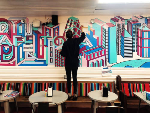 Murals by Kate Lynn Lewis seen at Cafe Tola, Chicago - Mural
