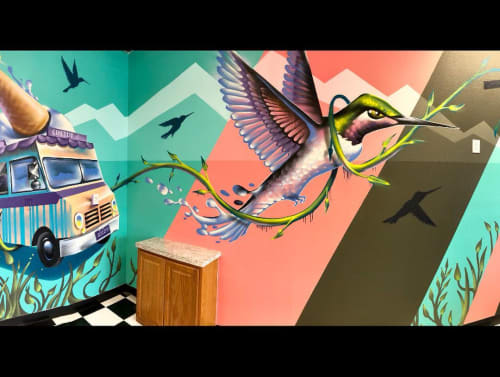 Murals by Art by Chad Bolsinger seen at Conehead Ice Cream Berthoud, Berthoud - Mural