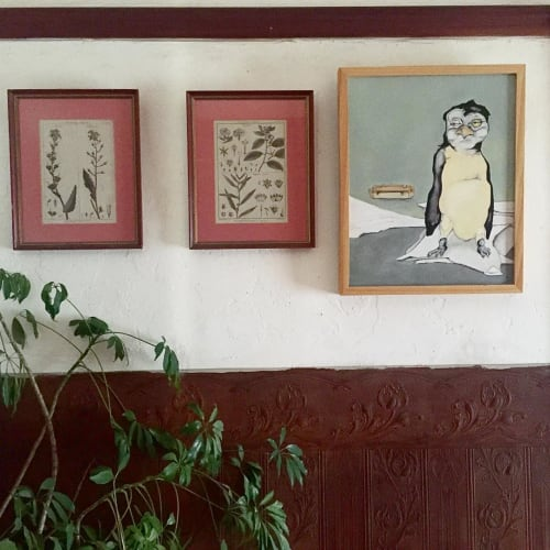 Paintings by Leah Tumerman seen at Private Residence, Berkeley - Penguin Exboyfriend