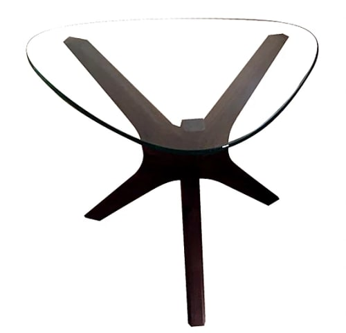 Tables by PartCraft LLC seen at Private Residence, Oregon - Tripod End tables