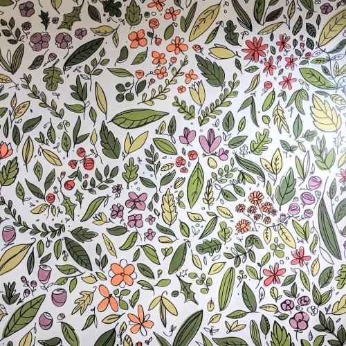 Murals by Brainstorm seen at Dover, Dover - Wild Garden Mural