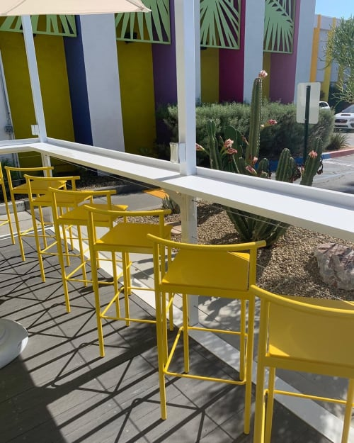 Chairs by Amigo Modern seen at The Saguaro Palm Springs, Palm Springs - Stack Stools