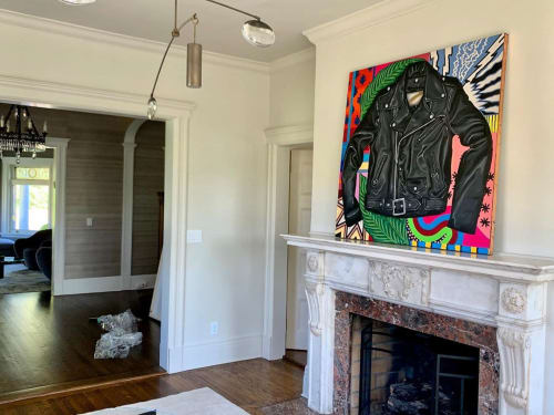 Paintings by Samara Marlee Shuter seen at Private Residence, Englewood - Leather Jacket Painting