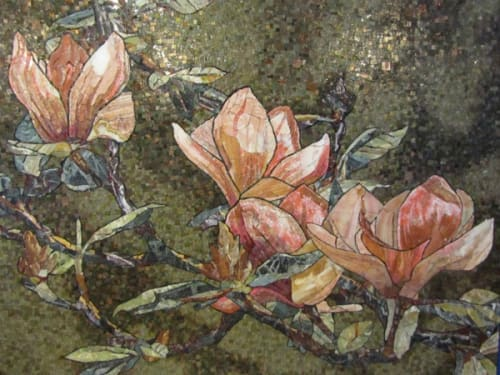 Paintings by Anne Marie Karlsen seen at 29th Street Community Center, Baltimore - Blooming