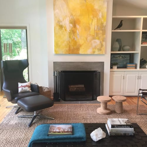 Paintings by Kari Kroll seen at Private Residence - Summer Abstract