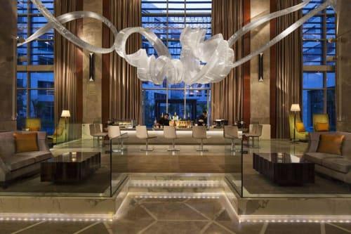 Sculptures by Nikolas Weinstein seen at JW Marriott Hotel New Delhi Aerocity, New Delhi - Lobby Glass Sculptures