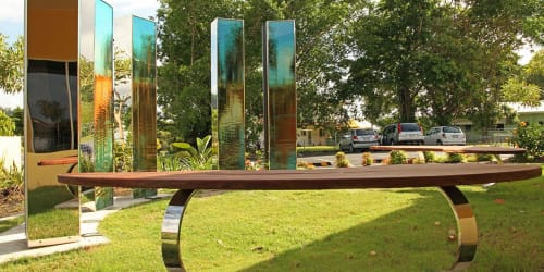 Public Sculptures by Jill Chism seen at Marlin Coast Neighbourhood Centre, Trinity Park - Sharing Nov 2011