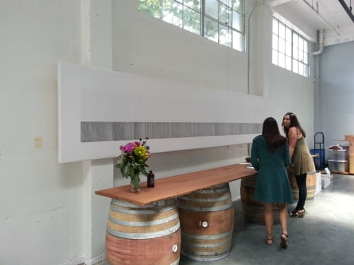 Paintings by Marta Elise Johansen seen at Broc Cellars, Berkeley - Lay My Love