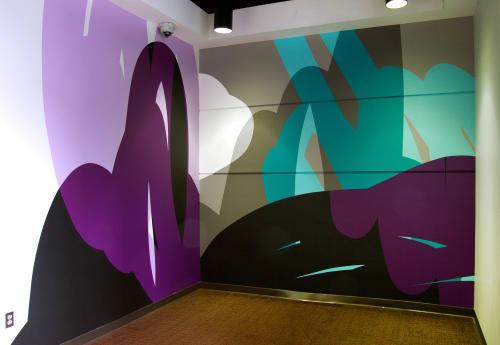 Murals by Ryan Coleman seen at Promenade II, Atlanta - Promenade Lobby Mural