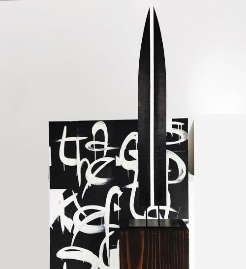 Black Ebony Wood Sculpture | Sculptures by Neshka Krusche