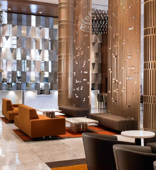Benches & Ottomans by Naula seen at Sheraton Grand Los Angeles, Los Angeles - Abyss Bench