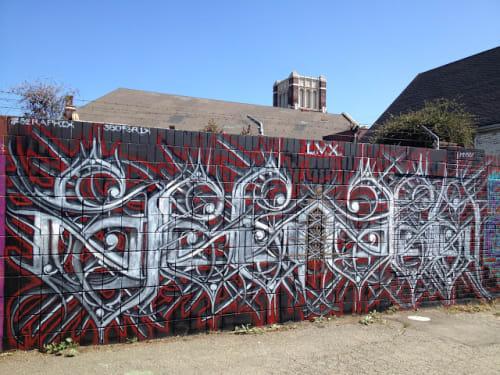 Street Murals by FIERYSERAPHIX seen at Marin Way, Oakland, Oakland - Graffiti Wall Art