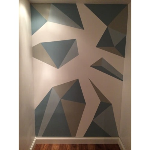 Murals by Justin Porro Designs seen at Private Residence, New York - Geometric Mural