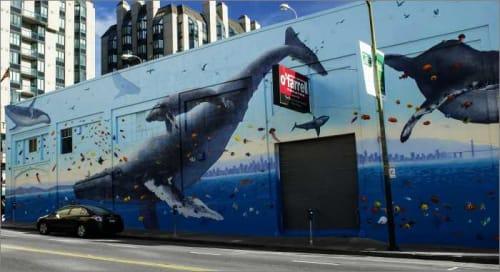Street Murals by Lou Silva seen at Polk St, San Francisco, San Francisco - Ecology-Themed Mural